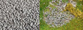 FALLER 170303 Streumaterial Bruchsteine granitgrau 650gr  für alle Spurweiten geeignet kaufen