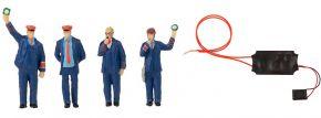 FALLER 180237 Figuren-Set Bahnpersonal & Schaffnerpfiff mit Sound-Effekt   4 Stück   Figuren Spur H0 kaufen