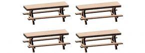 FALLER 180304 4 Picknickbänke | Lasercut Bausatz Spur H0 kaufen