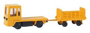 FALLER 180380 Gepäckwagen mit Anhänger Standmodell Bausatz 1:87 kaufen