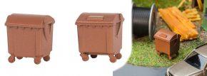 FALLER 180960 Braune Mülltonnen 2 Stück Bausatz 1:87 kaufen