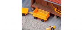 FALLER 180991 Bahnsteigwagen, orange | 2 Stück | Bausatz Spur H0 kaufen