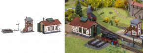 FALLER 222108 Set Nebenbahnlokschuppen mit Blockstelle Bausatz Spur N