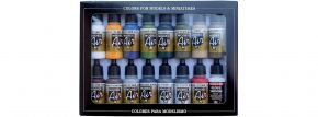 VALLEJO 771192 Farbset Gebäude-Farben | 16x 17 ml kaufen