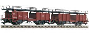 FLEISCHMANN 522401 Zwei Doppelstockwagen für Autotransport Bauart Laaes 541 DB | DC | Spur H0 kaufen