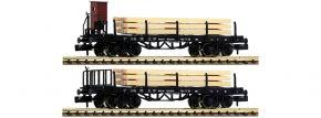 FLEISCHMANN 828507 2-tlg. Set Rungenwagen mit Holzpfosten DRG   Spur N kaufen