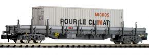 FLEISCHMANN 828823 Rungenwagen Res mit MIGROS-Container SBB | Spur N kaufen