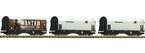 FLEISCHMANN 837932 Schiebeplanenwagen-Set 3tlg. Shimmns CAPTRAIN | Spur N kaufen