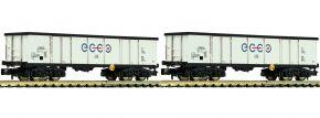 FLEISCHMANN 841014 Offene Güterwagen-Set 2-tlg. Eaos ECCO RAIL | Spur N kaufen