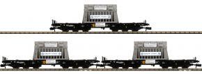 FLEISCHMANN 845511 3-tlg. Set Schwerlastwagen Samms mit Beladung DB | Spur N