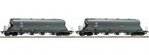 FLEISCHMANN 849002 Staubbehälterwagen-Set 2-tlg. Uacs-x KVG | Spur N kaufen