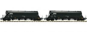 FLEISCHMANN 849005 Staubbehälterwagen-Set 2-tlg. Uacs-x  GATX | Spur N kaufen
