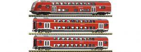 FLEISCHMANN 862810 Doppelstockwagen-Set 3-tlg. DB AG | Spur N kaufen