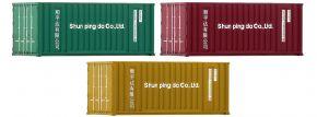 FLEISCHMANN 910220 20ft-Container   3 Stück   Spur N kaufen