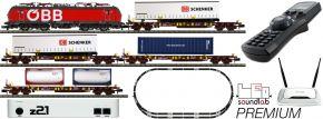 FLEISCHMANN 931900 Premium z21 Digitalset E-Lok Rh 1293 mit Güterzug ÖBB | DCC Sound | Spur N kaufen