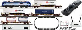 FLEISCHMANN 931901 Premium z21 Digitalset E-Lok BR 193 mit Güterzug HUPAC | DCC Sound | Spur N kaufen