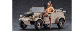 HASEGAWA 52273 Kübelwagen Typ 82 mit blonder Frau | Militär Bausatz 1:24 kaufen