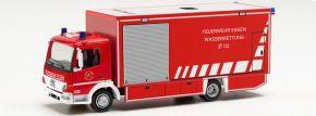 herpa 096553 MB Atego Koffer-LKW Feuerwehr Essen Wasserrettung | Blaulichtmodell 1:87 kaufen