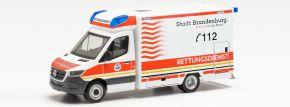 herpa 096591 MB Sprinter '18 Fahrtec RTW Rettungsdienst Brandenburg | Blaulichtmodell 1:87 kaufen
