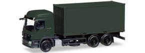 herpa 013383 MiKi MB Actros Wechselkoffer Container Bundeswehr | Bausatz 1:87 kaufen