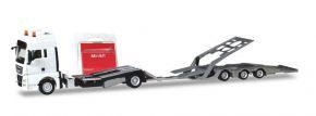 herpa 013529 MiniKit MAN TGX XXL LKW-Transporthängerzug  weiss Bausatz LKW-Modell 1:87 kaufen