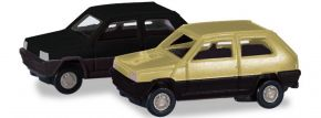 herpa 065962-002 2x Fiat Panda grünbeige schwarz | Automodell 1:160 kaufen