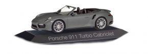 herpa 071239 Porsche 911 Turbo Cabrio achatgraumetallic Automodell 1:43 kaufen