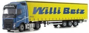 herpa 071314 Volvo FH GL Lowliner-Gardinenplanensattelzug Willi Betz Metallmodell 1:50 kaufen