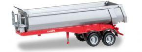 herpa 076036-002 Rundmuldenauflieger Carnehl 2a, silber Aufliegermodell 1:87 kaufen