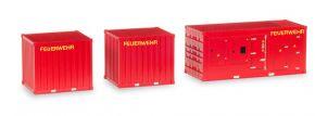 herpa 076807 1x Stromaggregat und  2x10ft Container Feuerwehr Zubhörset 3tlg 1:87 kaufen