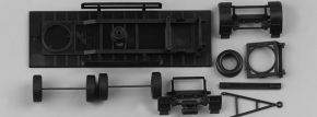 herpa 081061 Fahrgestell Hänger 2a Festaufbau 7,45m Bausatz Zubehör 1:87 kaufen