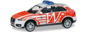 """herpa 091459 Audi Q3 ELW """"FW Wiesbaden"""" Blaulichtmodell 1:87 kaufen"""