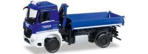herpa 092562 MB Arocs Dreiseitenkipper THW | Blaulichtmodell 1:87 kaufen