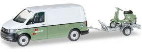 herpa 092760 VW T6 Kasten mit Anhänger und Vespa Wandt | Automodell 1:87 kaufen