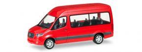 herpa 093804 Mercedes-Benz Sprinter 2018 Bus Hochdach rot Automodell 1:87 kaufen