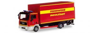 herpa 094221 MAN TGL Planen-LKW mit Ladebordwand Feuerwehr Ingolstadt Blaulichtmodell 1:87 kaufen
