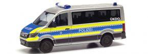 herpa 096195 MAN TGE Bus Flachdach Polizei Wiesbaden Blaulichtmodell 1:87 kaufen