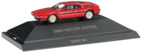 herpa 102025 BMW M1 rot History Edition | Automodell 1:87 kaufen