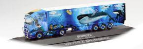 herpa 122122 Volvo FH GL XL Kühlkoffersattelzug Eisinger Kühltransporte LKW-Modell 1:87 kaufen