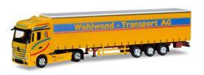 herpa 927673 Mercedes-Benz Actros Bigspace Gardinenplanensattelzug Wohlwend Transport AG LKW-Modell kaufen