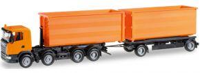 herpa 306041 Scania R Abrollmulden-Hzg orange | LKW-Modell 1:87 kaufen