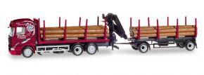 herpa 307840 Scania R 2013 Highline Holztransport-Hängerzug Ziefle Spedition LKW-Modell 1:87 kaufen