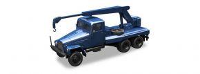 herpa 308106 IFA G5 Kranfahrzeug 3achsig blau  LKW-Modell  1:87 kaufen