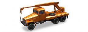 herpa 308113 IFA G5 Kranfahrzeug 3achsig orange  LKW-Modell 1:87 kaufen