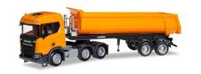 herpa 309394 Scania CR XT 6x2 Rundmuldensattelzug kommunalorange LKW-Modell 1:87 kaufen
