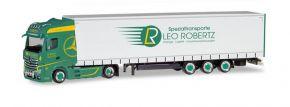 herpa 309684 Mercedes-Benz Actros Gigaspace Lowlinerplanensattelzug Leo Robertz LKW-Modell 1:87 kaufen
