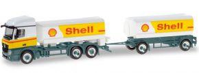 herpa 310437 Mercedes-Benz Actros Streamspace Benzintankhängerzug Shell LKW-Modell 1:87 kaufen