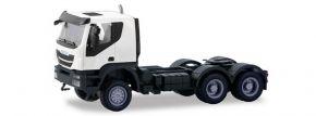 herpa 310529 Iveco Trakker  Solozugmaschine 6x6 weiss LKW-Modell 1:87 kaufen