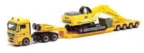 herpa 312301 MAN TGX XLX Tieflade-Sattelzug mit Liebherr Bagger Leonhard Weiss | LKW-Modell 1:87 kaufen