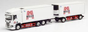 herpa 312448 Scania CS 20 HD Kühlkoffer-Hängerzug Müller | LKW-Modell 1:87 kaufen